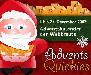 Adventskalender 2007 der Webkrauts