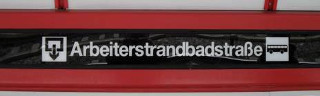 Die Wiener U-Bahn-Haltestelle Arbeiterstrandbadstraße