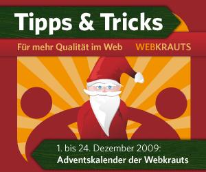 Adventskalender 2009 der Webkrauts