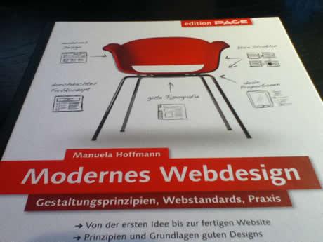 Modernes Webdesign von Manuela Hoffmann, erschienen im Galileo-Verlag.