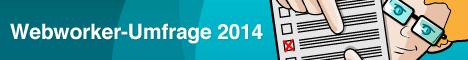 Banner für die Webworker-Umfrage 2014 der Webkrauts