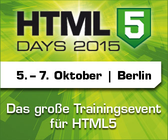 HTML5-Days, vom 5. bis 7. Oktober in Berlin