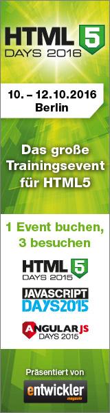 Die HTML5-Days finden vom 10. bis 12. Oktober in Berlin statt.