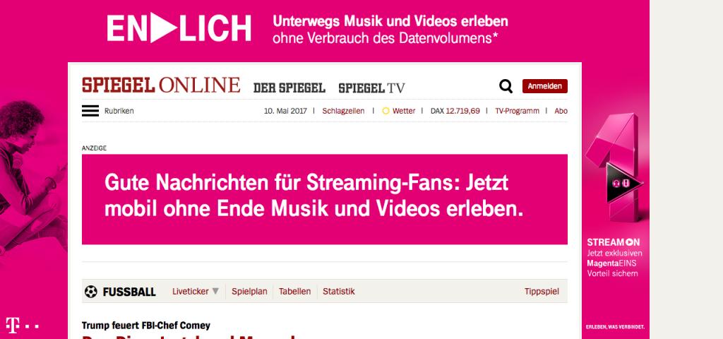 Spiegel Online mit Werbung