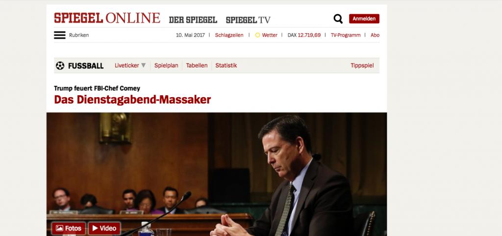 Screenshot von Spiegel Online ohne Werbung